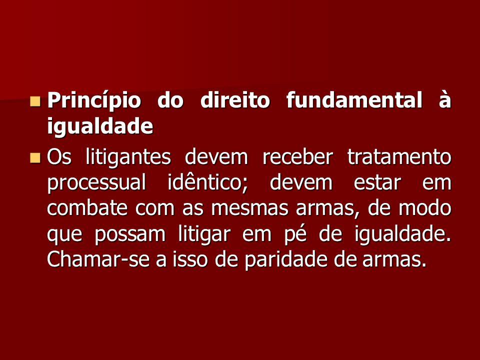 Princípio do direito fundamental à igualdade