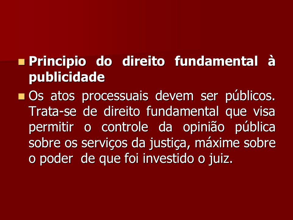 Principio do direito fundamental à publicidade