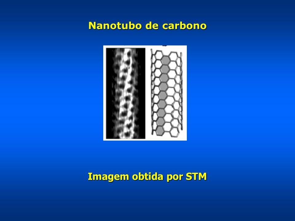 Nanotubo de carbono Imagem obtida por STM