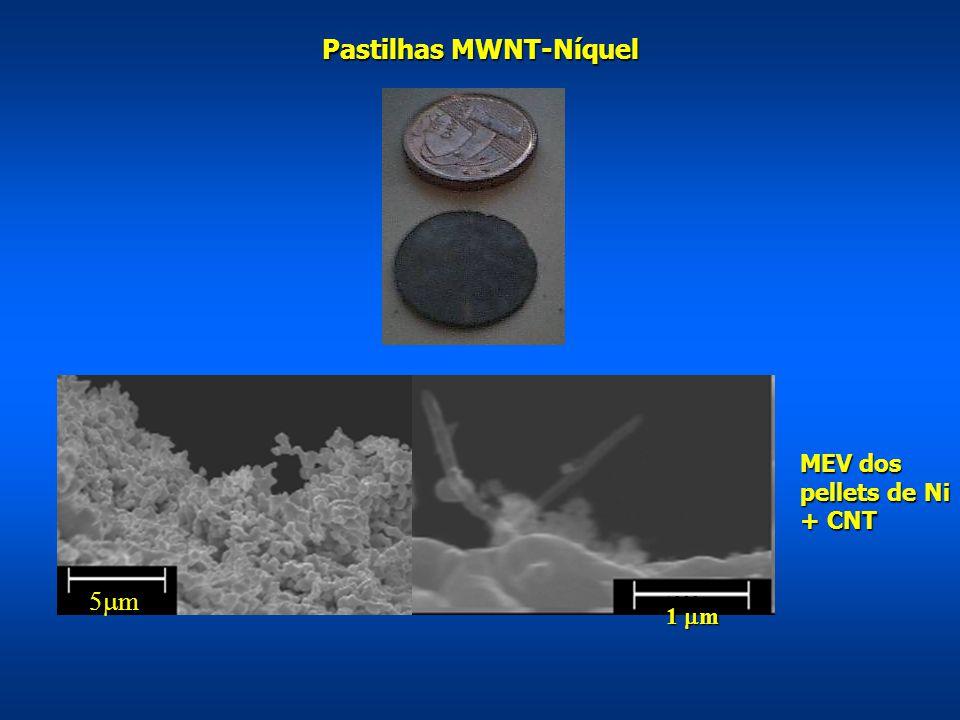 Pastilhas MWNT-Níquel