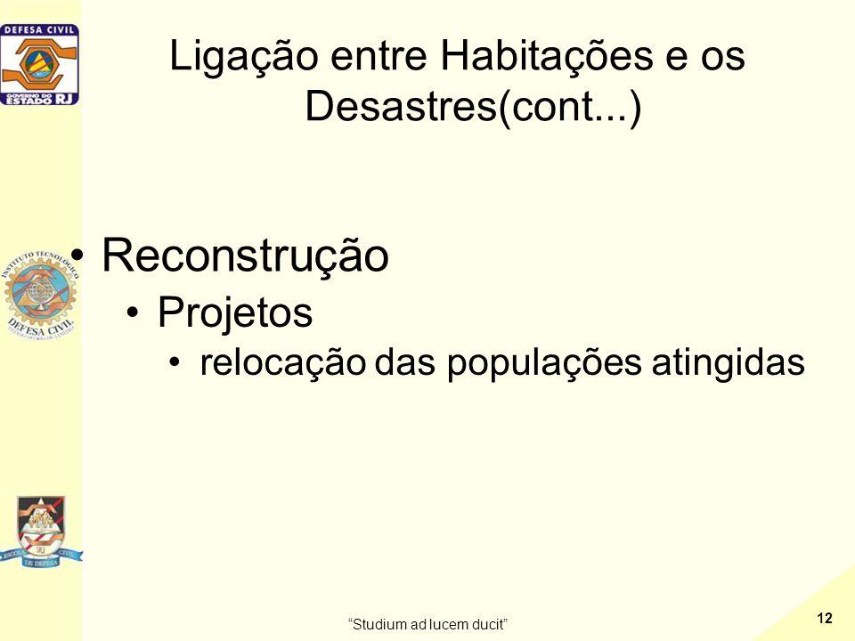 Ligação entre Habitações e os Desastres(cont...)