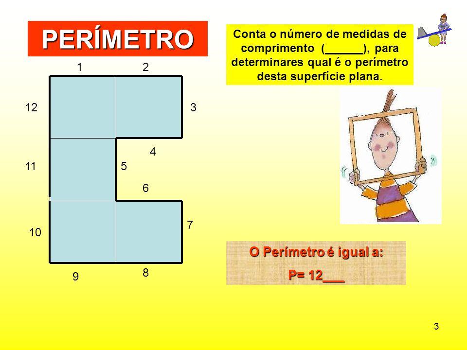 PERÍMETRO O Perímetro é igual a: P= 12___