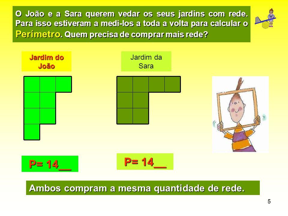 P= 14__ P= 14__ Ambos compram a mesma quantidade de rede.