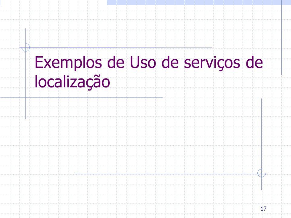 Exemplos de Uso de serviços de localização