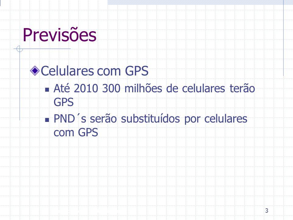 Previsões Celulares com GPS