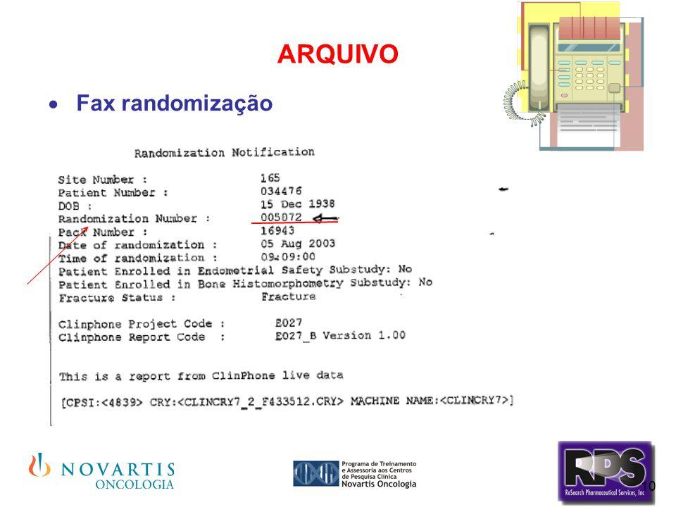 ARQUIVO Fax randomização