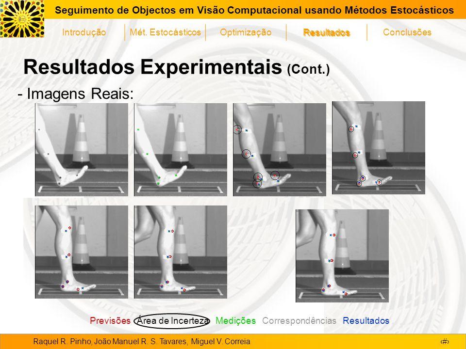 Resultados Experimentais (Cont.)