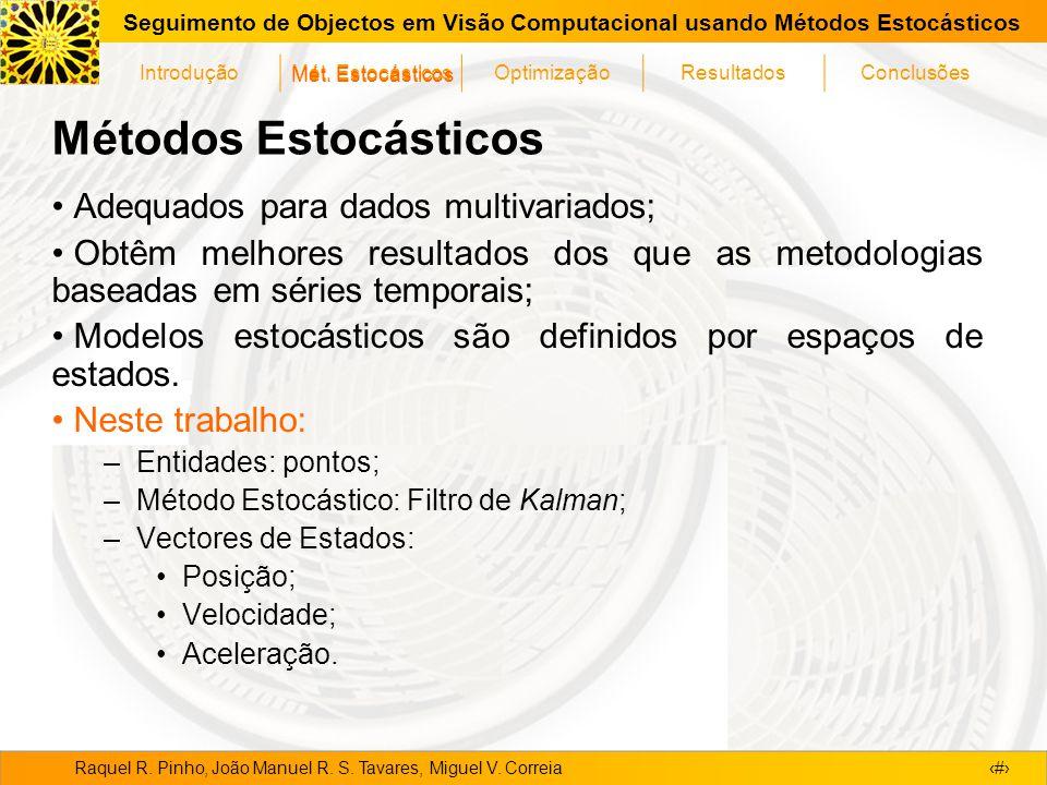 Métodos Estocásticos Adequados para dados multivariados;