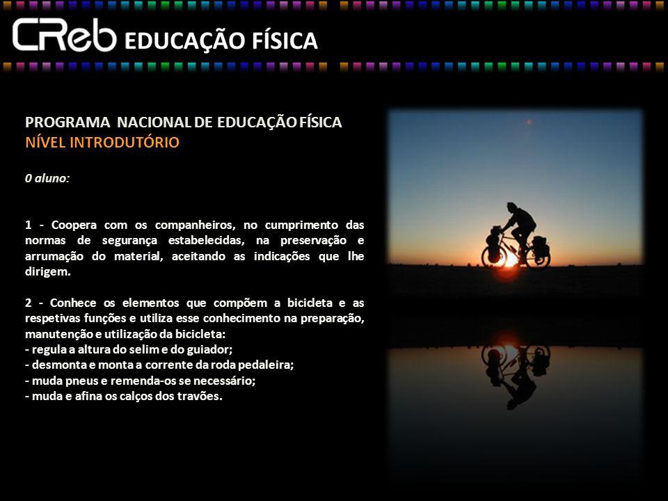 PROGRAMA NACIONAL DE EDUCAÇÃO FÍSICA NÍVEL INTRODUTÓRIO