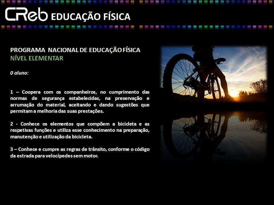 PROGRAMA NACIONAL DE EDUCAÇÃO FÍSICA NÍVEL ELEMENTAR