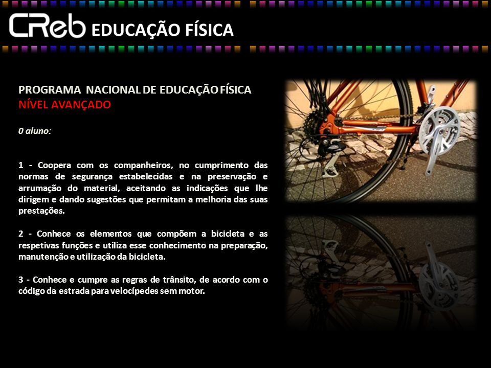PROGRAMA NACIONAL DE EDUCAÇÃO FÍSICA NÍVEL AVANÇADO