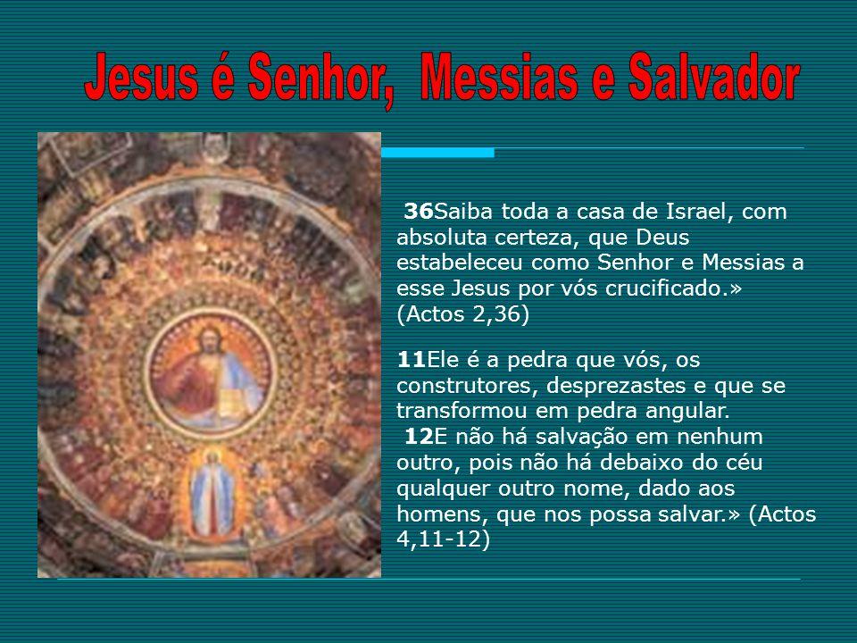 Jesus é Senhor, Messias e Salvador