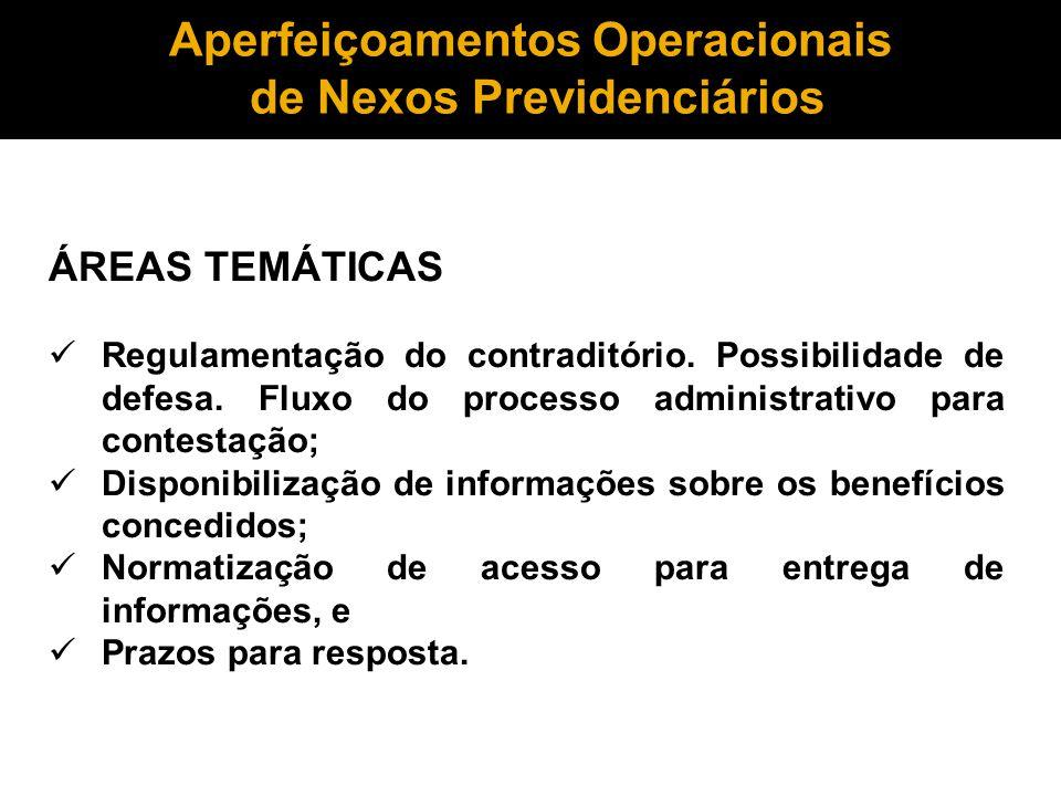 Aperfeiçoamentos Operacionais de Nexos Previdenciários
