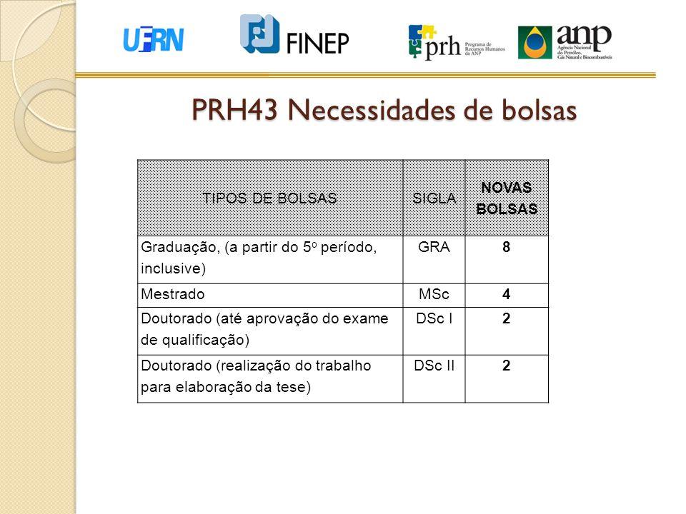 PRH43 Necessidades de bolsas