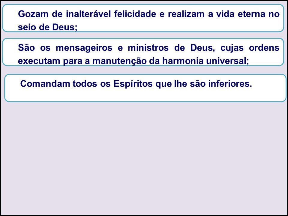 Gozam de inalterável felicidade e realizam a vida eterna no seio de Deus;