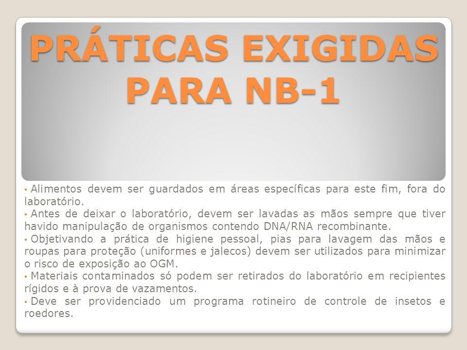 PRÁTICAS EXIGIDAS PARA NB-1
