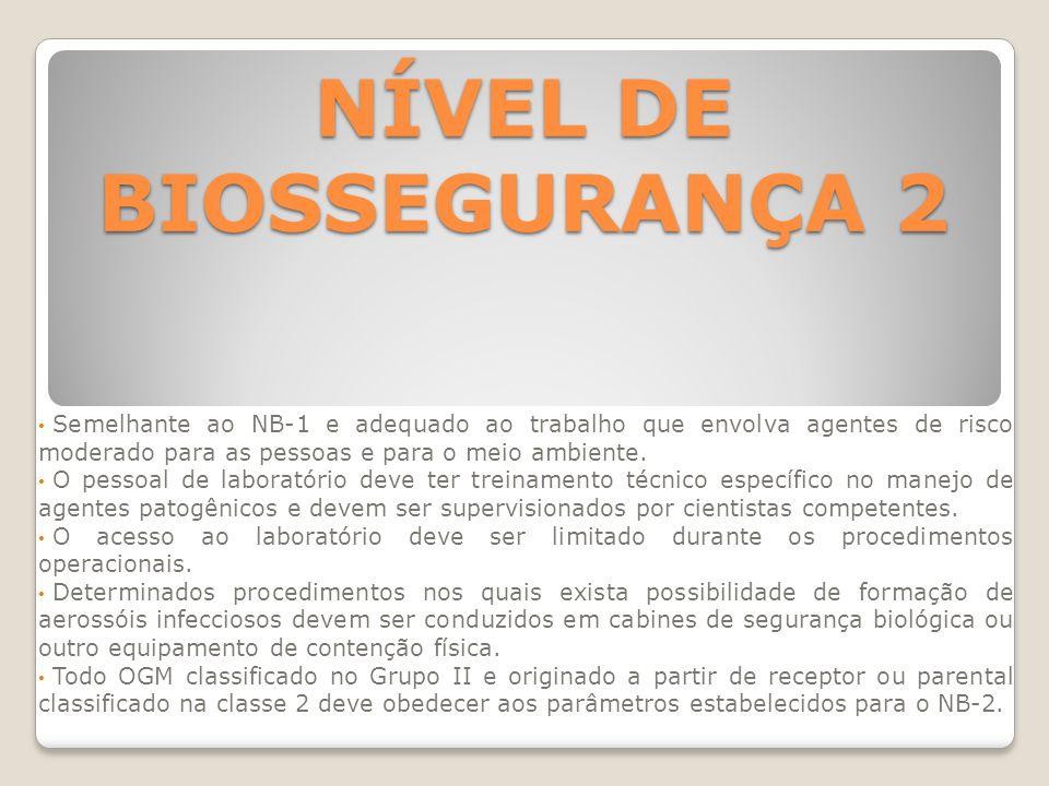 NÍVEL DE BIOSSEGURANÇA 2