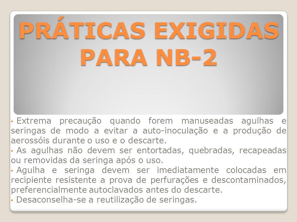 PRÁTICAS EXIGIDAS PARA NB-2
