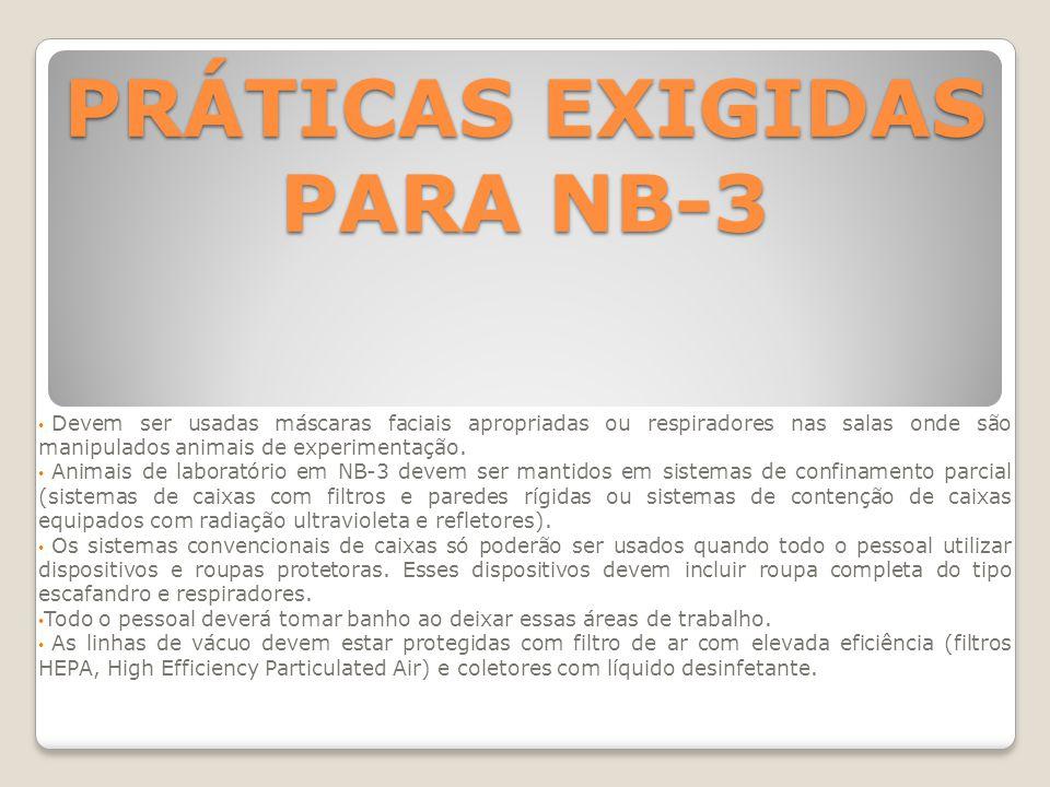 PRÁTICAS EXIGIDAS PARA NB-3