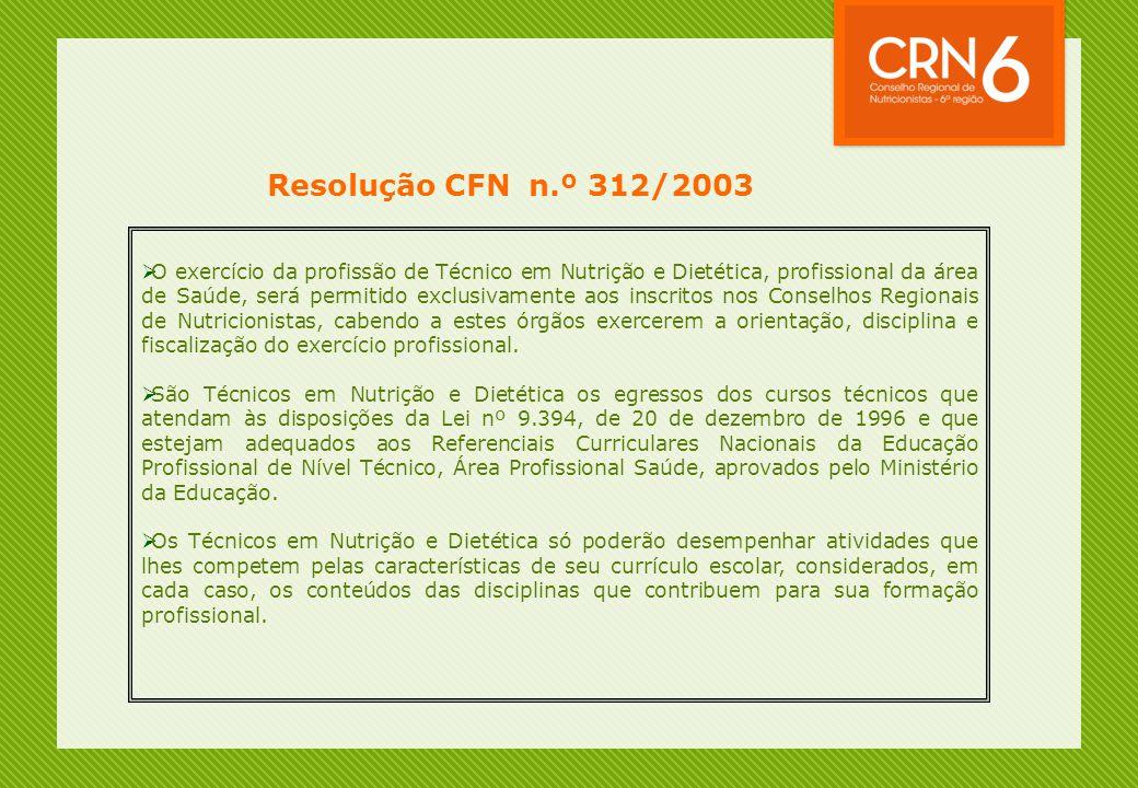 Resolução CFN n.º 312/2003