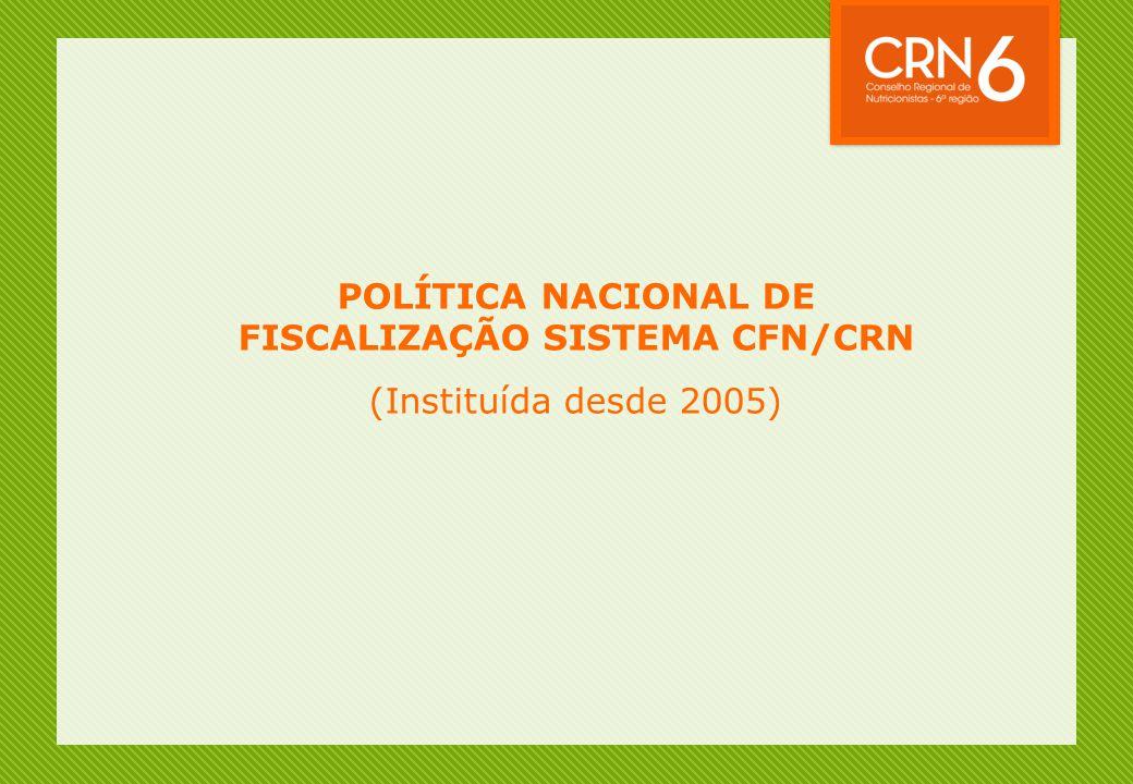 POLÍTICA NACIONAL DE FISCALIZAÇÃO SISTEMA CFN/CRN