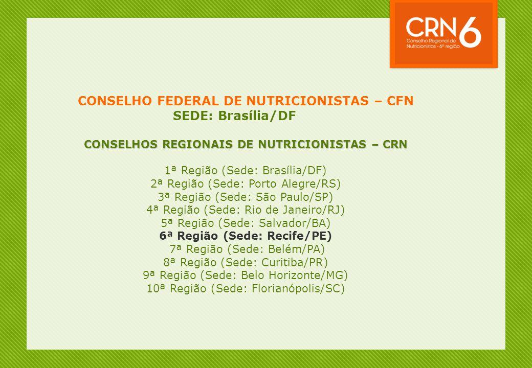 CONSELHO FEDERAL DE NUTRICIONISTAS – CFN