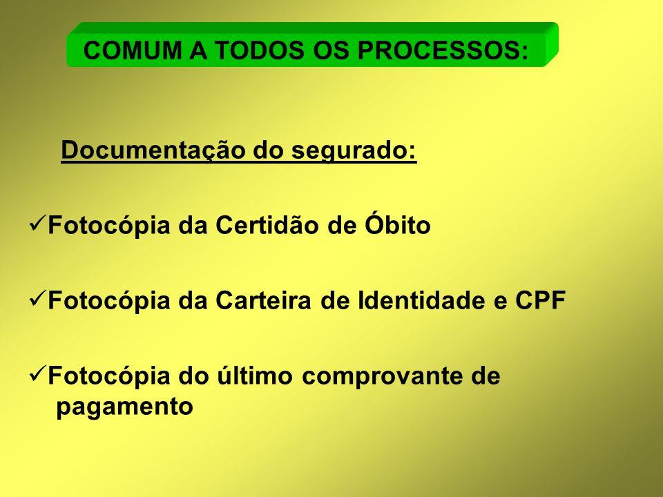 COMUM A TODOS OS PROCESSOS: