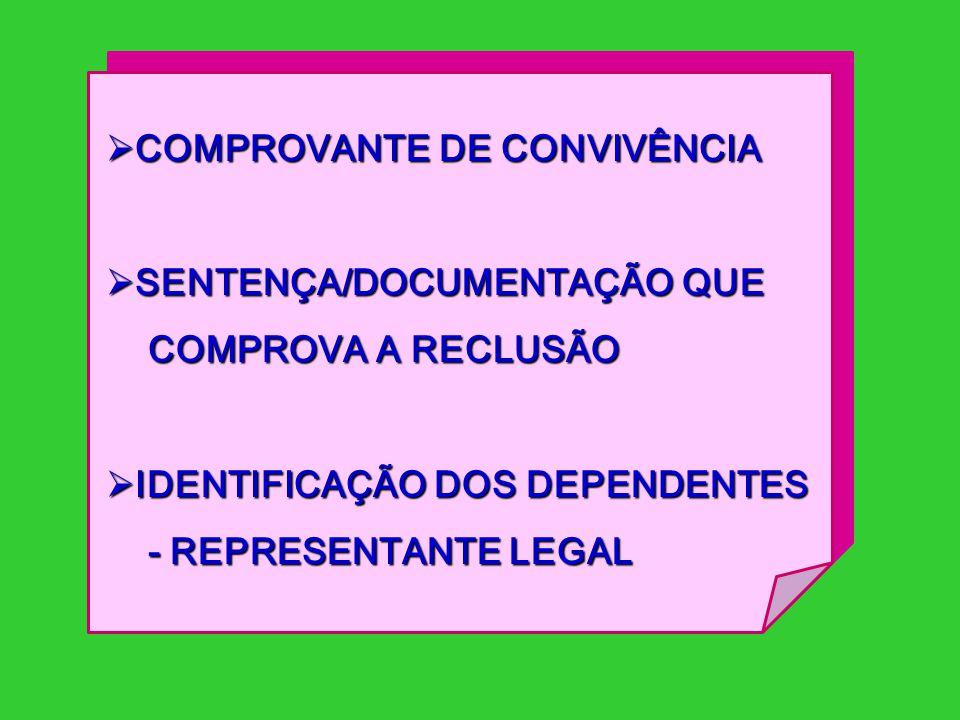 COMPROVANTE DE CONVIVÊNCIA