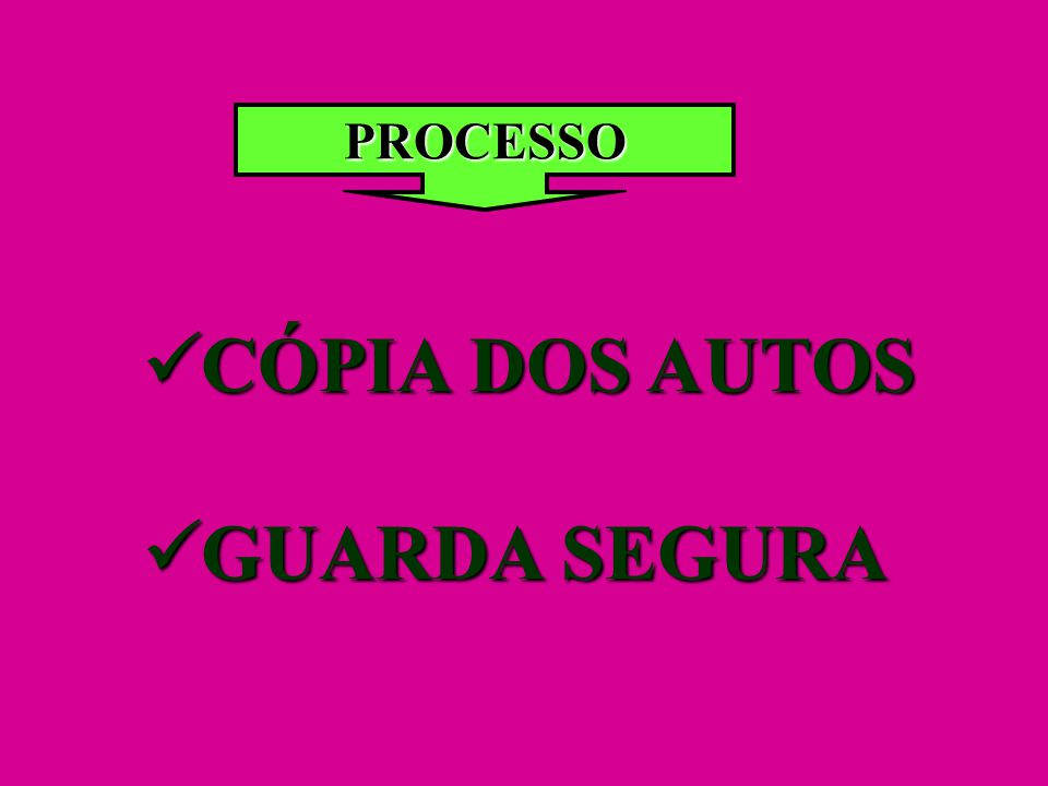 PROCESSO CÓPIA DOS AUTOS GUARDA SEGURA