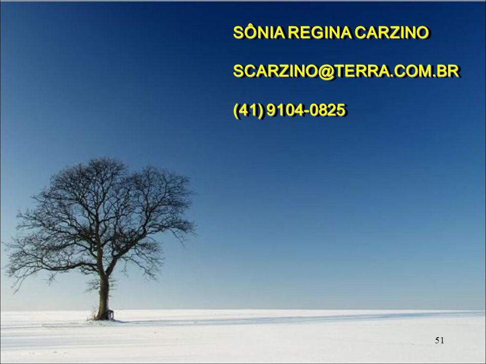 SÔNIA REGINA CARZINO SCARZINO@TERRA.COM.BR (41) 9104-0825 51