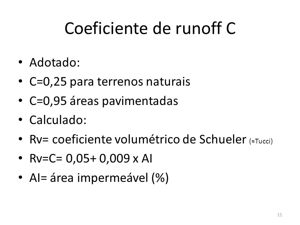 Coeficiente de runoff C