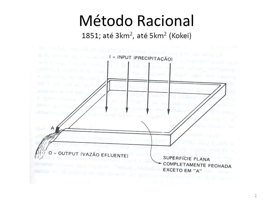 Método Racional 1851; até 3km2, até 5km2 (Kokei)