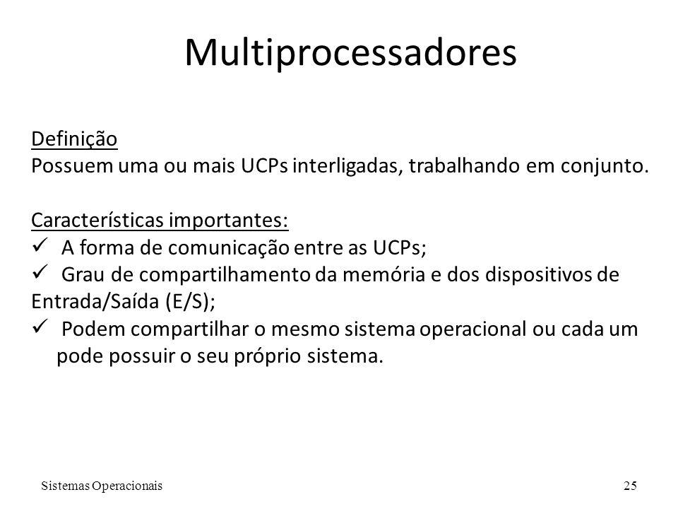 Multiprocessadores Definição