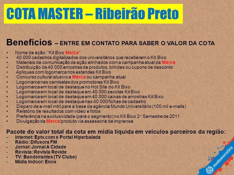 COTA MASTER – Ribeirão Preto
