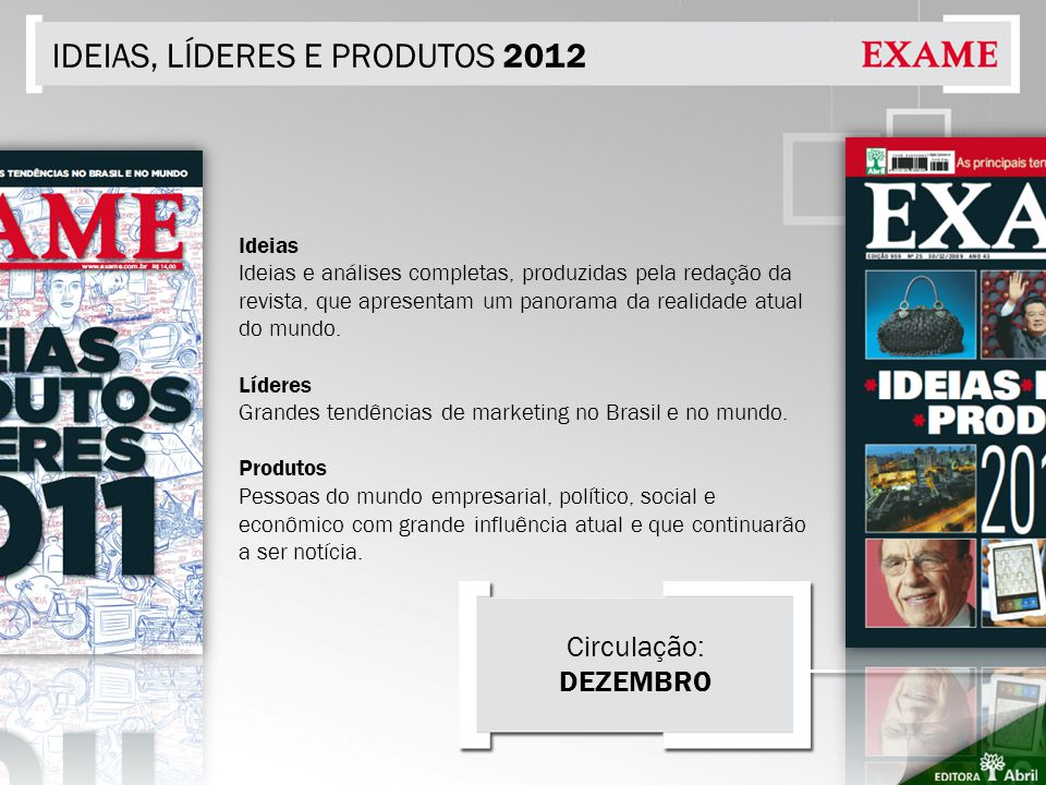 IDEIAS, LÍDERES E PRODUTOS 2012