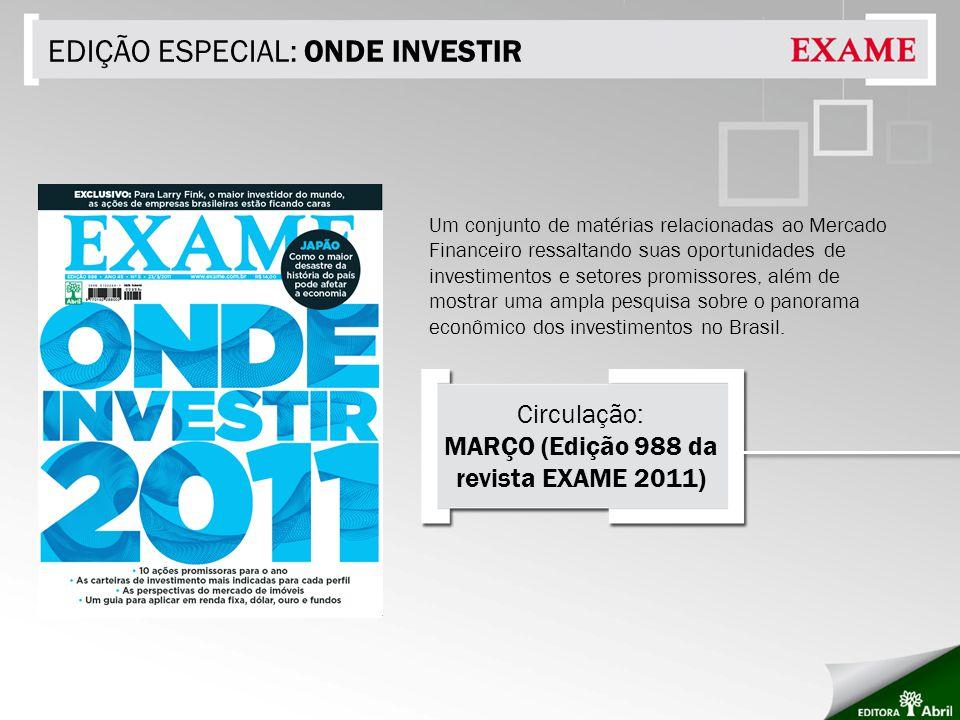 MARÇO (Edição 988 da revista EXAME 2011)
