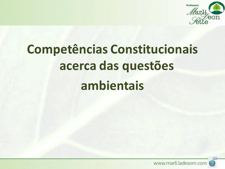 Competências Constitucionais acerca das questões