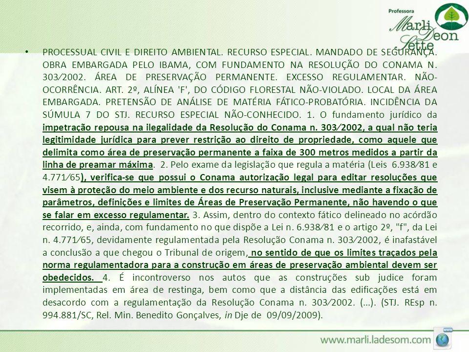 PROCESSUAL CIVIL E DIREITO AMBIENTAL. RECURSO ESPECIAL