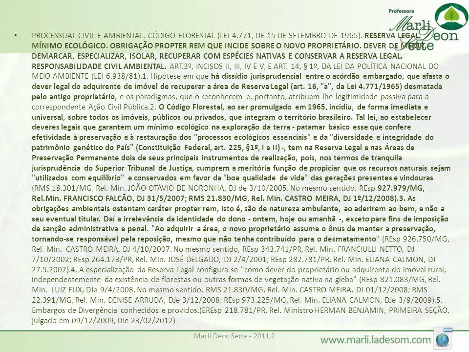 PROCESSUAL CIVIL E AMBIENTAL. CÓDIGO FLORESTAL (LEI 4