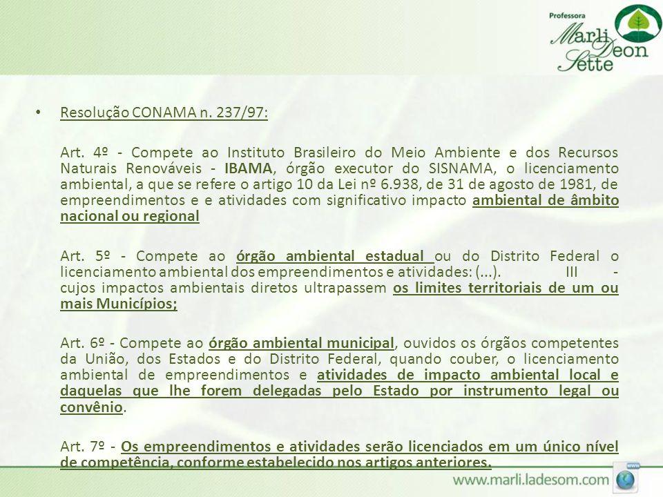 Resolução CONAMA n. 237/97: