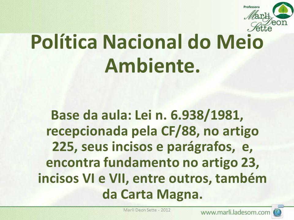Política Nacional do Meio Ambiente.