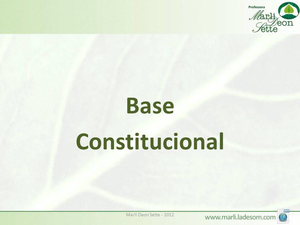 Base Constitucional Marli Deon Sette - 2012
