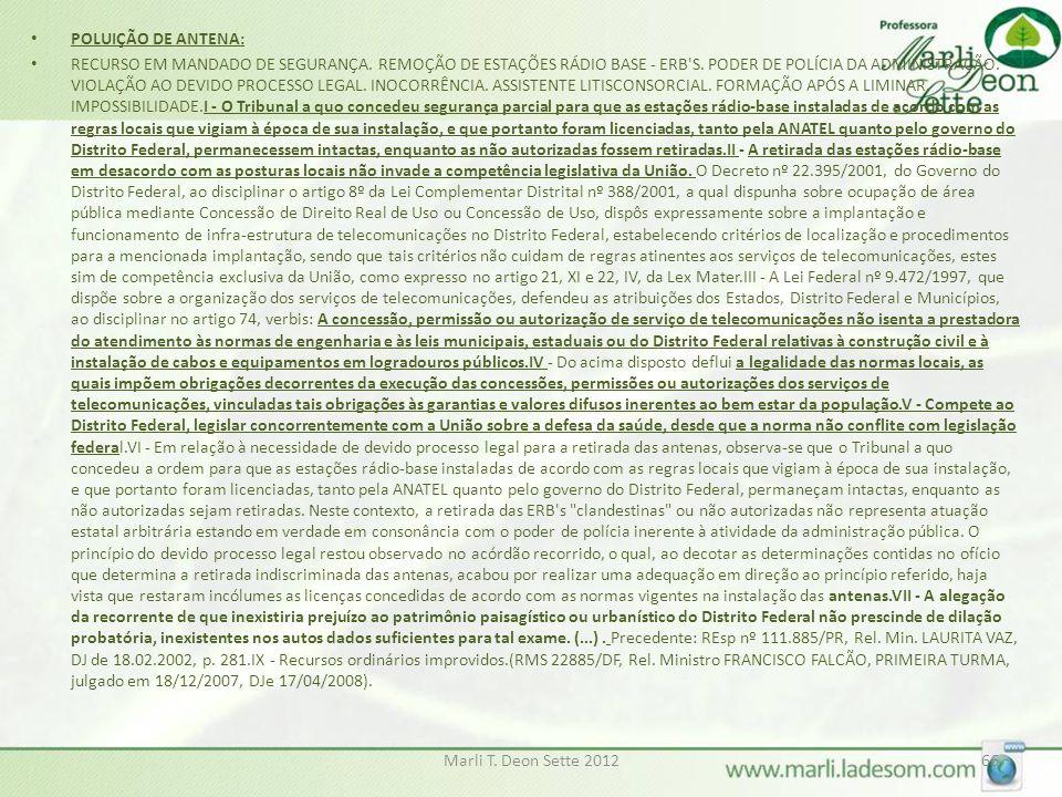 POLUIÇÃO DE ANTENA: