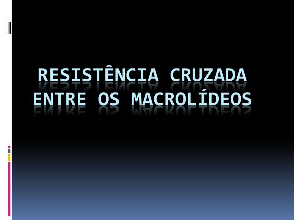 RESISTÊNCIA CRUZADA ENTRE OS MACROLÍDEOS