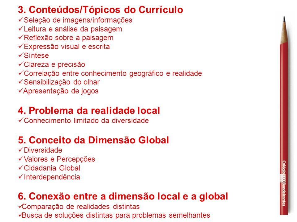 3. Conteúdos/Tópicos do Currículo