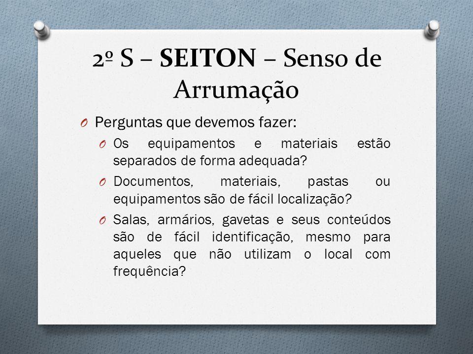2º S – SEITON – Senso de Arrumação