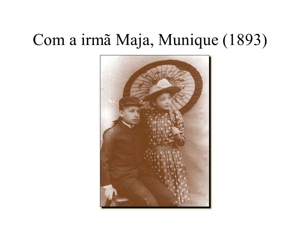 Com a irmã Maja, Munique (1893)