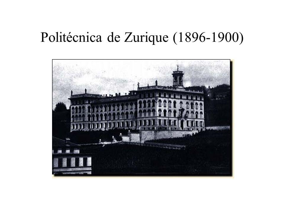 Politécnica de Zurique (1896-1900)