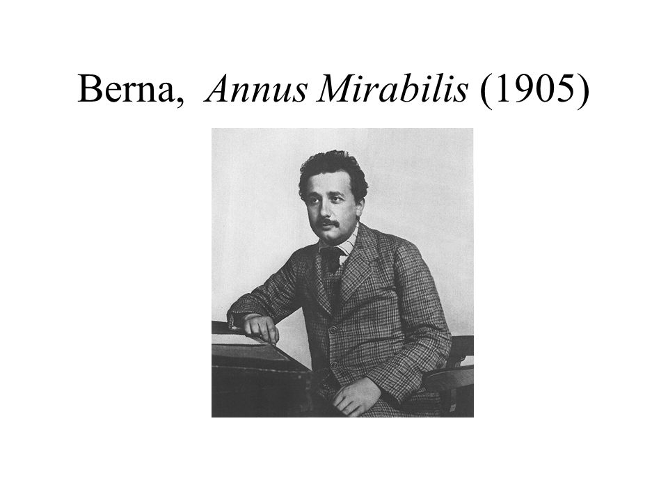 Berna, Annus Mirabilis (1905)