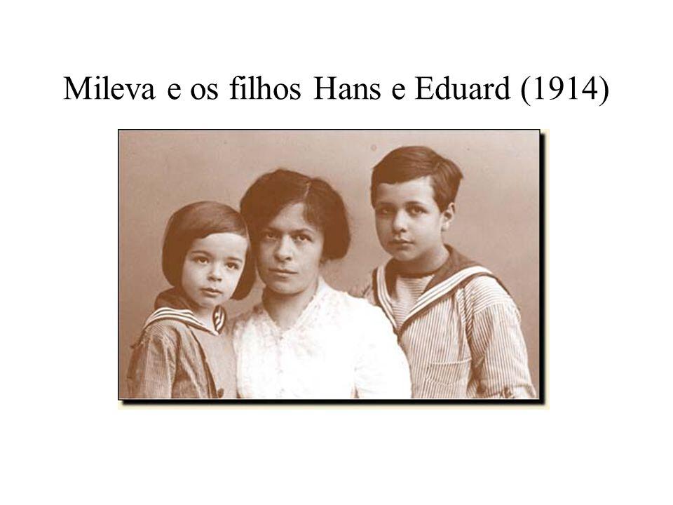 Mileva e os filhos Hans e Eduard (1914)